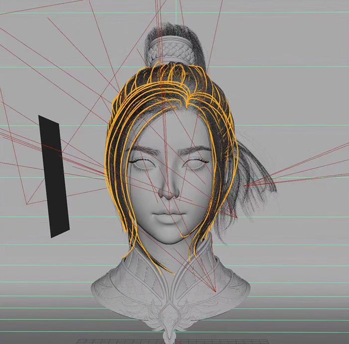 人物头像3D建模设计