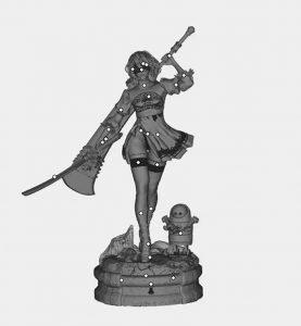 上海3D打印美女战士手办模型.jpg