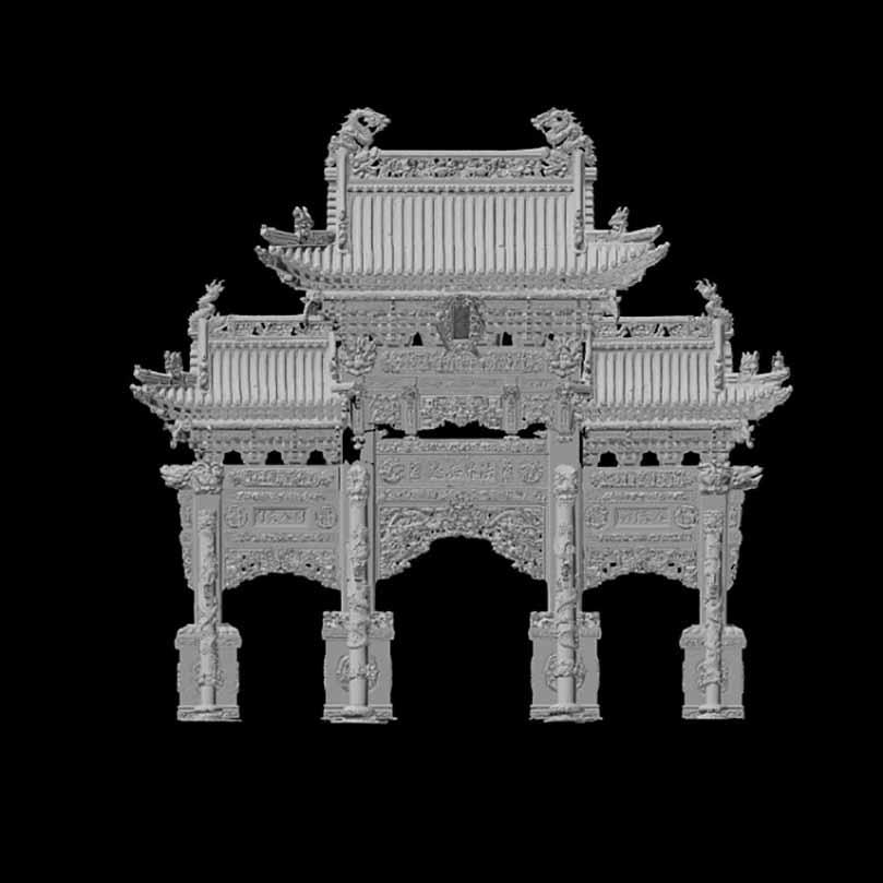 拱门3D模型的前视图.jpg
