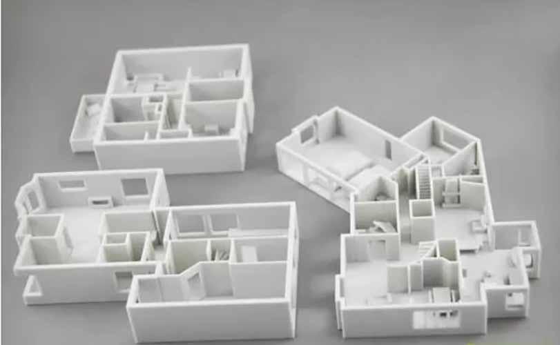 3D打印房屋建筑模型组图